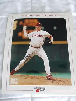 Curt Schilling Philadelphia Phillies autographed 8x10 #2