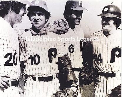 1980 Philadelphia Phillies World Series infield Schmidt Rose Bowa Trillo BW
