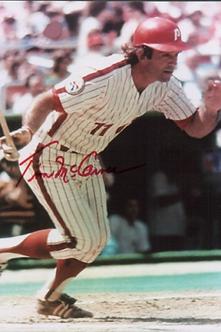 Tim McCarver autographed Philadelphia Phillies action 8x10 HOF