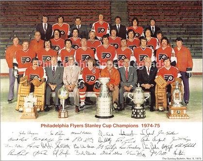1974-75 Philadelphia Flyers 8x10 team photo Broad Street Bullies Stanley Cup