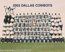 JERRY JONES DALLAS COWBOYS AUTOGRAPHED 2003 8X10 TEAM PHOTO BILL PARCELLS