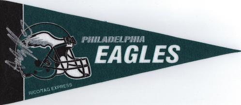 Andy Reid Philadelphia Eagles signed 8x10 mini pennant
