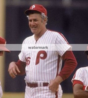 DALLAS GREEN 1980 PHILLIES WORLD SERIES MANAGER PHOTO