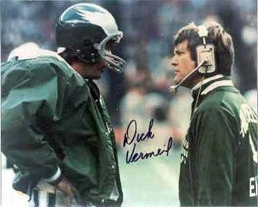 Dick Vermeil autographed Philadelphia Eagles 8x10 Ron Jaworski Super Bowl XV