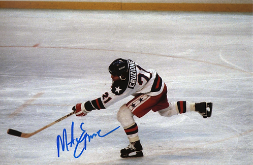 Mike Eruzione USA Olympic Hockey Miracle on Ice action shot 8x10