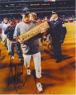 Jamie Moyer signed Philadelphia Phillies 2008 World Series pitching rubber 8x10