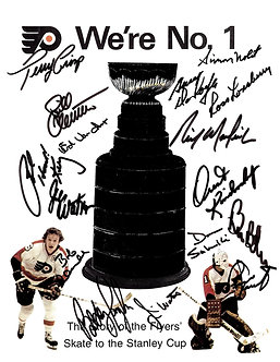 1973-74 Stanley Cup Champion Flyers 15 signed photo Clarke Barber Parent