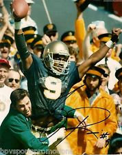 TONY RICE AUTOGRAPHED 8X10 PHOTO NOTRE DAME FIGHTING IRISH MUST HAVE