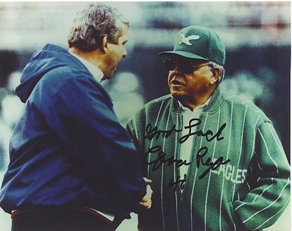 Buddy Ryan Philadelphia Eagles autographed 8x10 with Bill Parcells Giants #1