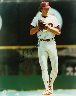 Marty Bystrom signed 1980 Philadelphia Phillies World Series 8x10 photo