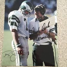 RON JAWORSKI DICK VERMEIL AUTOGRAPHED 11x14 PHILADELPHIA EAGLES SUPER BOWL XV