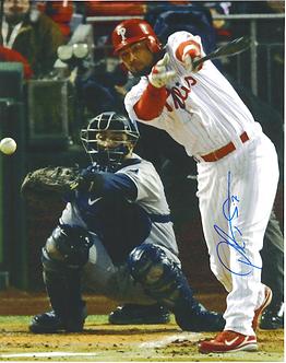 Pedro Feliz 2008 World Series fielding 8x10 photo Philadelphia Phillies