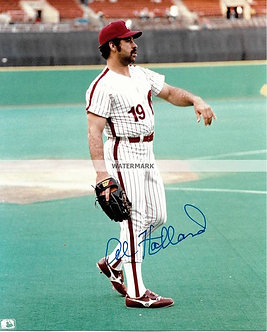 "AL HOLLAND ""MR T"" 1983 PHILLIES SIGNED 8X10"