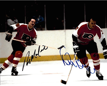 RICK MACLEISH BILL BARBER STANLEY CUP FLYERS SIGNED 8X10