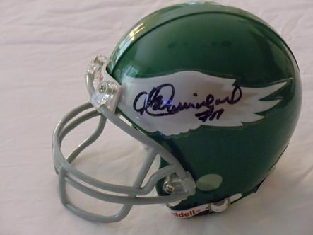 Harold Carmichael autographed Philadelphia Eagles Throwback mini helmet