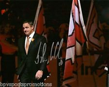 JOHN LECLAIR SIGNED PHILADELPHIA FLYERS HALL OF FAME INDUCTION 8X10