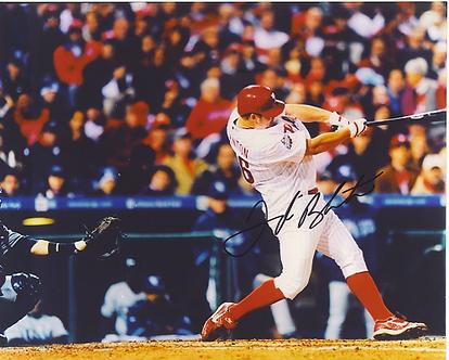 Joe Blanton signed 2008 Philadelphia Phillies World Series Home Run 8x10 photo