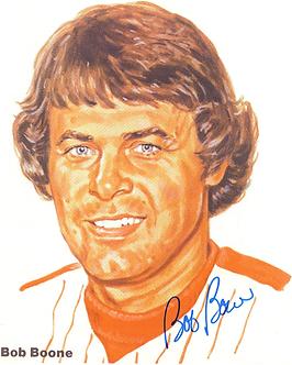 Bob Boone 1980 Philadelphia Phillies signed 8.5x11 color portrait