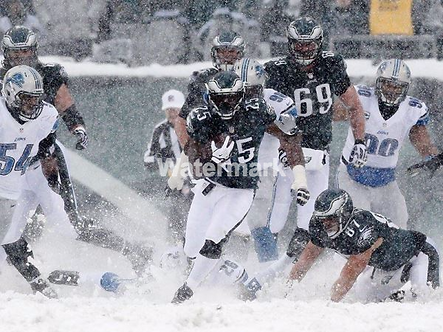 LESEAN MCCOY PHILADELPHIA EAGLES SNOW BOWL ACTION PHOTO #7
