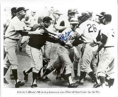 Johnny Callison Philadelphia Phillies signed 1964 All Star Game Winning Home run