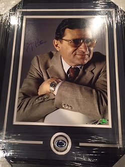 Joe Paterno signed framed double matt 16x20 PSA