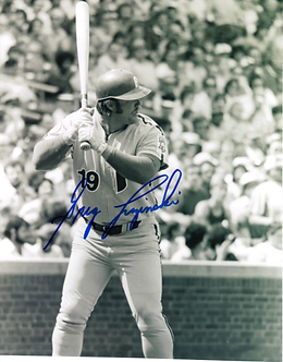 Greg Luzinski signed vintage Philadelphia Philles action photo #2