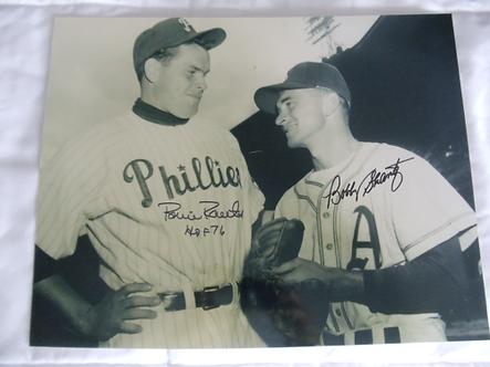 Robin Roberts Bobby Shantz Philadlephia Phillies dual signed 11x14 photo
