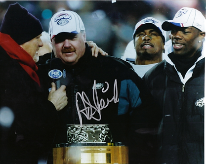 Andy Reid Philadelphia Eagles signed 8x10 NFC Championship photo