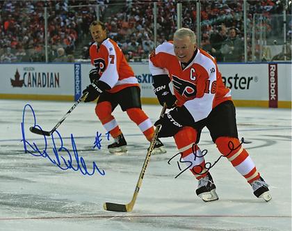 Bobby Clarke Bill Barber Philadelphia Flyers signed 2011 Winter Classic Alumni