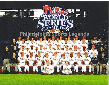 2008 World Series Champion Philadelphia Phillies 8x10 team photo