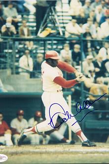 Dick Richie Allen 1964 Philadelphia Phillies autographed color action 8x10 photo