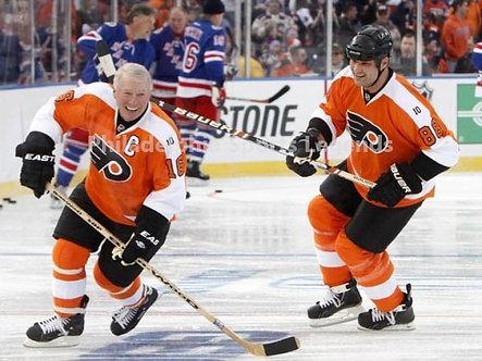 Bob Clarke Eric Lindros Philadelphia Flyers 2011 Winter Classic Alumni 8x10