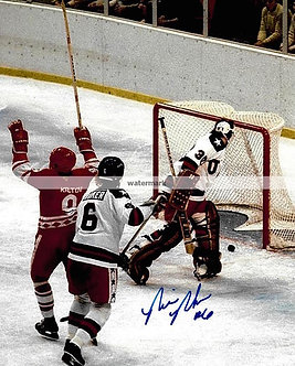 BILL BAKER 1980 USA MIRACLE ON ICE SIGNED 8X10 USSR