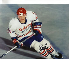 ERIC LINDROS SIGNED PHILADELPHIA FLYERS OSHAWA GENERALS JUNIOR HOCKEY 8X10