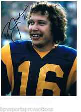 RON JAWORSKI AUTOGRAPHED LOS ANGELES RAMS ROOKIE YEAR 8X10 SUPER BOWL XV EAGLES