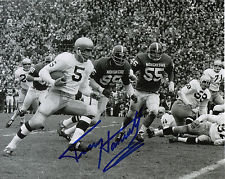 TERRY HANRATTY AUTOGRAPHED 8X10 NOTRE DAME FIGHTING IRISH TOUCHDOWN RUN PHOTO