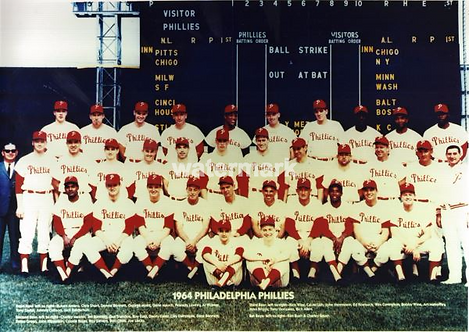 1964 Philadelphia Phillies 8x10 team photo