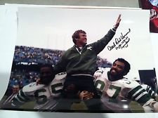 DICK VERMEIL PHILADELPHIA EAGLES AUTOGRAPHED COACHING CELEBRATION 11x14 PHOTO