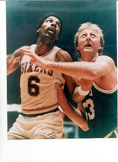 Dr. J Julius Erving Sixers Larry Bird Boston Celtics vintage 8x10 photo