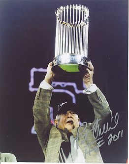 Pat Gillick 2008 Philadelphia Phillies signed World Series Trophy 8x10 HOF