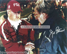 JOE PATERNO PENN STATE BOBBY BOWDEN FLORIDA STATE SIGNED REPRINT AUTOGRAPH