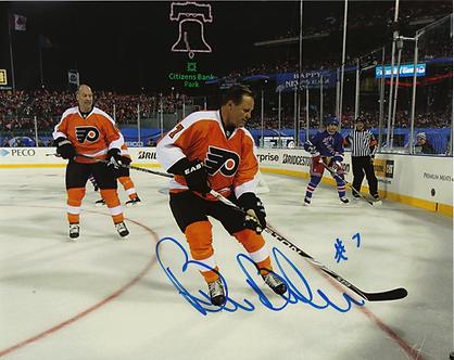 Bill Barber signed Philadelphia Flyers 2011 Winter Classic 8x10 Brad Marsh