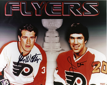 Jim and Joe Watson dual signed Philadelphia Flyers Stanley Cup 8x10 Bullies