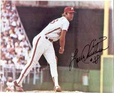 Larry Christenson autographed 1980 Phillies 8x10 photo