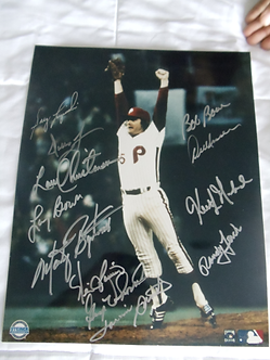 Tug McGraw 1980 Phillies World Series 11x14 signed by 12 members