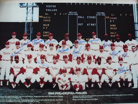 1964 Philadelphia Phillies 11x14 team photo 13 autographs