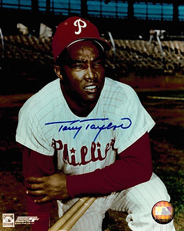 TONY TAYLOR PHILADELPHIA PHILLIES SIGNED 8X10