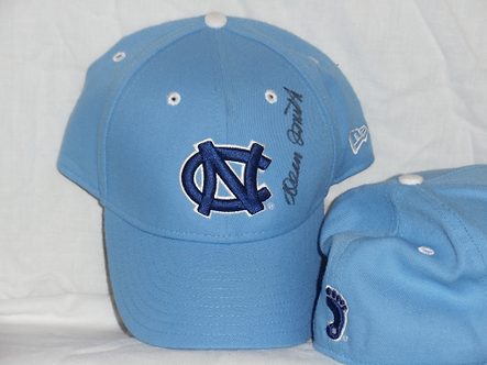 Dean Smith North Carolina Tar heels autographed new NC hat