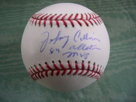 Johnny Callison Philadelphia Phillies signed 1964 All Star MVP inscribed ball