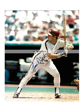 """LENNY DYKSTRA """"THE DUDE"""" 1993 PHILLIES NL CHAMPS SIGNED 8X10"""
